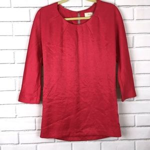 Elizabeth and James Pink Top Blouse Shirt Tunic Sm